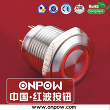 ONPOW 16mm momentary illuminated pushbutton switch GQ16F-10E/J/R/12V/S(China)