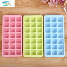 PP Material 21 Cup Square Shape Ice Cube Tray Mould Freeze Mold Chocate Pudding Jelly Maker Refrigerator Bar Tools