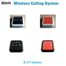 Wireless Paging System 433.92mhz Bell Customer Server Call Restaurant K-F3 (Pls tell me the button color if you plan to order )