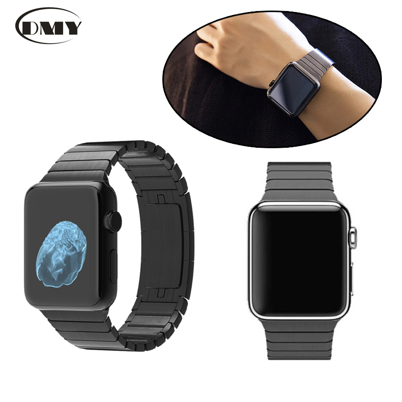 Luxury 316L Stainless Steel Replacement Band Wrist Strap Bracelet with Original Butterfly Buckle Clasp for Apple Watch 42mm 38mm<br><br>Aliexpress