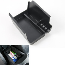 Interior Car Armrest Storage Box Phone Money Coin Glove Holders Tray Container For Ford Mustang 15-17 ABS Black Accessory(China)