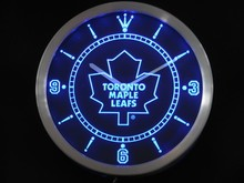 nc0549-b Toronto Maple Leafs Neon Sign LED Wall Clock
