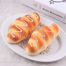 14CM Slow Rising Cream Bread Squishy Cell Phone Strap Kawaii Soft Squeeze Scented Bread Cake Stretchy Toy Gift Cute Simulation
