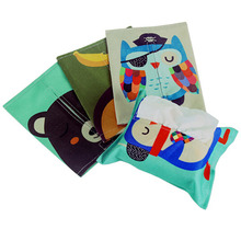 Creative Cartoon Cloth Towel Sets Tissue Box Paper Pumping Storage Box Cute Cotton Towel Sets Tissue Pumping Tray Bags