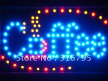 led009-b Coffee Cup Cafe LED Neon Business Light Sign Wholesale Dropshipping