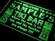 pm-tm Name Personalized Custom Tiki Bar Beer Neon Light Sign