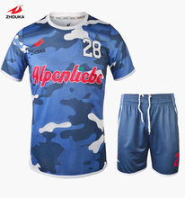 2016 Thai quality hot sale design full sublimation custom soccer jersey football uniform set