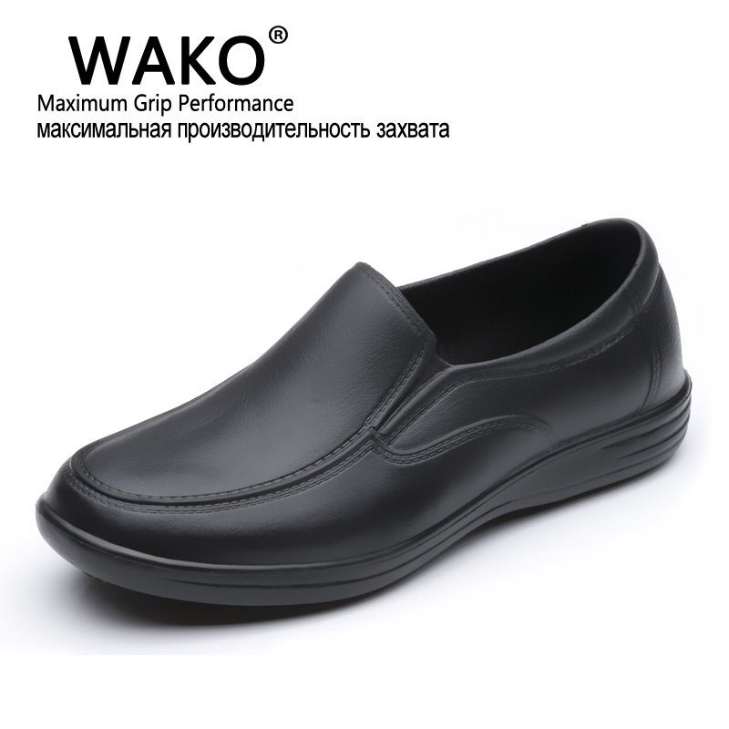 WAKO Professional Chef/Hospital Work Anti-slip EVA Surgical Shoes Men Cook Shoes Surgery Scrubreathable Shoes Black Shoes<br><br>Aliexpress