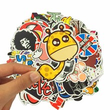 25 Pcs/lot fashion PVC funny stickers toys for Travel Suitcase Bomb Wall Pencil Box Car Phone Sliding Plate of mixed graffiti