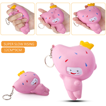 Slow Rising Squishy 11CM Mango Cartoon Doll New Arrival Phone Straps Pendant Fun Sweet Bread Kid Toy Squeeze Soft Charm Gift