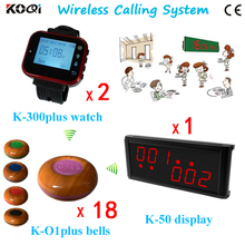 Easy To Use Button Call K-236+K-300plus-red+K-O1plus-purple For Restaurant Wireless Pager System