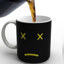 New Creative Monday Know Temperature Ceramic Coffee Mug Smiley Face Changing Cup Magic Color Change Cups