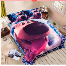 Cartoon Bedding set 100% cotton bed set duvet cover bed sheet bedspread bed linen pillowcase dog animal printed home textile kit