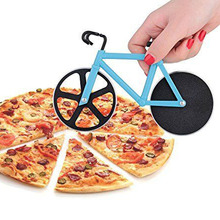 High Quality Bicycle Pizza Cutter Dual Stainless Steel Bike Pizza Cutter