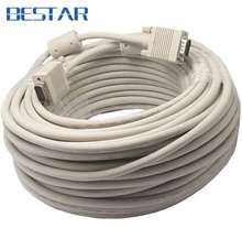 VGA to VGA Cable 15 pin with Double Magnets Ring VGA 3+6 D-SUB Extension Cabo Male to Male 1.5m/1.8m/3m/5m/10m/15m/20m/25m/30m(China)