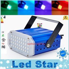 Mini Sound Control Laser Lights SMD5050 36LEDs Stroboscopic DJ Strobe Light Home Entertainment Music Show Stage Lighting Effect