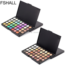 FSHALL 40 Colors Professional Makeup Eye Shadow Frosted Nude Pearl EyeShadow Palette -B118