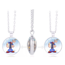 New Listing TV Cartoon Classics: Popeye the Sailor Picture Charm Double Sided Pendant Kids Birthday Favors and Gift(China)