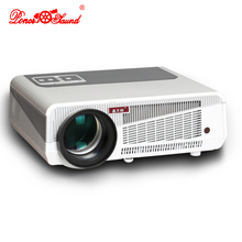 Poner Saund Android 4.4 LED projector 5500Lumens 1280*800P 3D for business home theater connect TV PC with AV HDMI VGA usb(China)