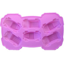 1PCS Food Grade Silicone Carton Cars Shape For Silicone Cake Molds, Fondant Cake Decorate