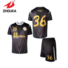 2016 New Full sublimation short sleeve sportswear men Soccer Uniform set free shipping