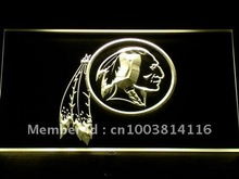 154 Washington Redskins Logo Bar Pub LED Neon Light Sign Wholesale Dropshipping On/ Off Switch 7 colors DHL