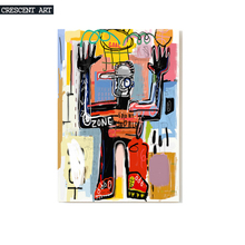 Hot Sale Poster Cool Street Graffiti Style  Robot Wall Picture Canvas Print Photo Art  Home Decor For Livingroom