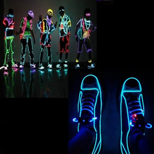 1 2 3 5M EL Wire Neon led Light Strips Hot Sale 8 Colors 10 Feet Illuminated Rope For Party Car Deco+ BATTERY PACK FREE SHIPPING