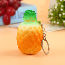 Super Slow Rising Squishy Pineapple Release Stretch Scented Fruit Phone Strap Decor Kid Toys Gift Charm Cream Scented Bread Cake
