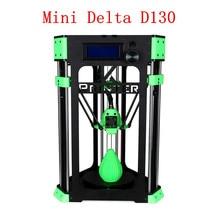 Sunhokey Новая Версия DIY D130 Мини Delta 3D Комплект Принтера SD Card + Кабель USB + Накаливания образец + Нити Кронштейн как подарок