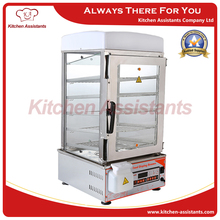 500L Computer Control panel electric stainless steel glass commerical bun steamer bread hot dog food steamer