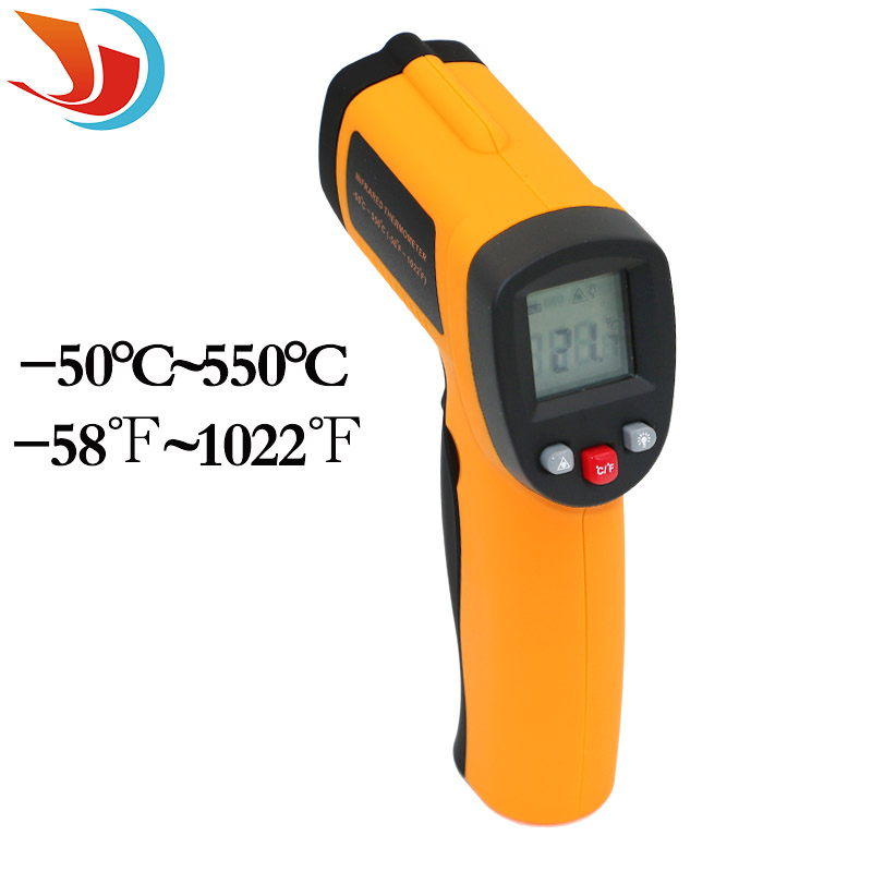 LCD Digital -50 To 550 Degree Non-Contact Industrial Pyrometer Laser IR Point Infrared Temperature Thermometer Tester Gun<br><br>Aliexpress