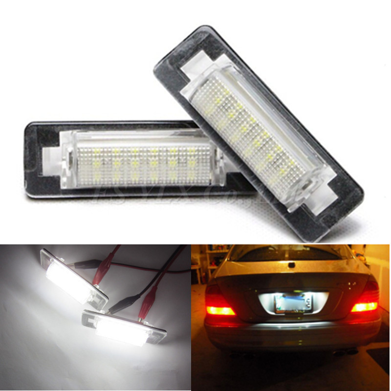 2x Bright Car styling Canbus Led License Number Plate Light For MERCEDE S BENZ E W210 4D Sedan W202 4D Sedan Facelift<br><br>Aliexpress