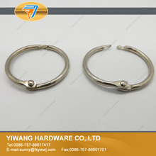 Aliexpress sales well 10pcs nickel plating O ring Hinged Rings ring for key collection book ring