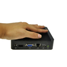 Lowest ubuntu micro pc fanless pc with mini pc for sales business computer smart size pc,4G RAM,256G SSD,Qotom-Q100N