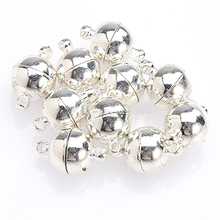 10Pcs 6mm/8mm Round Ball Magnetic Clasps All Match DIY Necklace Tools