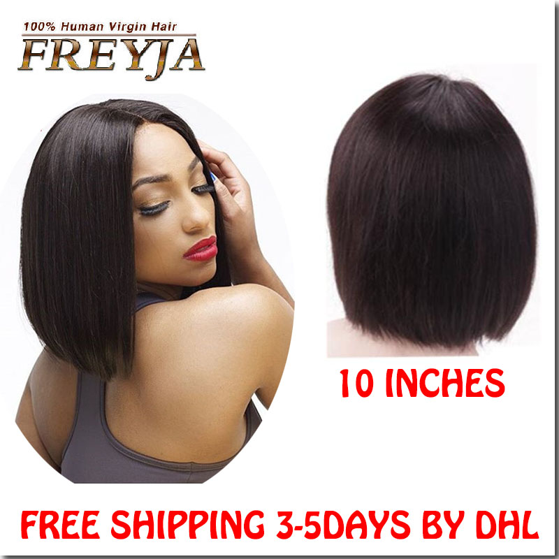 7A Unprocessed Mongolian Straight Glueless Full Lace Wigs Lace Front Human Hair Wigs With Baby Hair Mongolian UPart Hair Wigs<br><br>Aliexpress