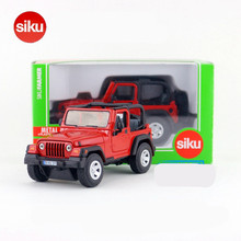 SIKU 211 Diecast Metal Cars Toys, Alloy Toys Jeep Car Models, Collectible 4810Jeep Wrangler Models, Truck Toys For Children