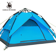 Hydraulic Fiberglass Poles 3-4 Persons Pop Up Automatic Roof Top Tent Camping Fish Beach Tienda De Acampar Kamp Malzemeleri