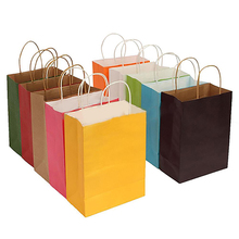 Vertical Paper Party Bag with Soft Handle for Present Gift Birthday Wedding Party