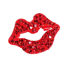 Fashion Small gold Star Lucky Red lips Heart love an American Flag Collar Pin Brooch Jewelry For Men And Women(China)