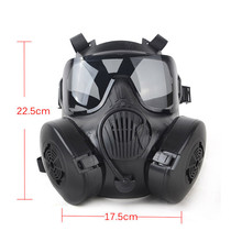 Tactial M50 Airsoft Mask Adults Paintball Full Face Skull Gas CS Mask With Fan free shipping