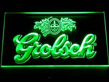 007 Grolsch Beer Bar Pub Club NEW LED Neon Sign with On/Off Switch 7 Colors to choose