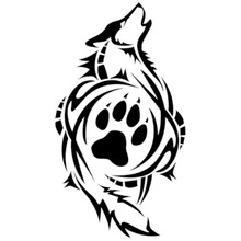 8.4*15.2CM TrIbal Wolf Paw Print Decals Stickers Classic Car Styling Decoration Personality Accessories C4-0264
