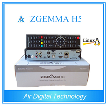 2pcs/lot  New Model with BCM73625 Dual Core DVB-S2 + DVB-T2/C Hybrid tuner  ZGEMMA H5 H.265 HEVC Combo Receiver