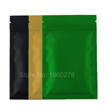 100pieces/lot 8.5*13cm Colors Resealable Aluminum foil plastic pouch packaging Flat Bottom Green ziplock bags