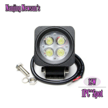 "1x 12V/24V Square Spot Led Off Road Work Light Lamp For Car Truck 4WD 4x4 UTE Black Housing Cover 12W Working Lights 2.5"" Mini"