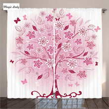 Pink Curtains Decor Collection The Bonsai Tree Flower Leaves Butterflies Illustration Of An Ornate Living Room Curtains Pink De