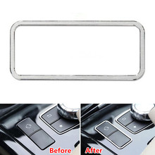 Auto Car Central Console ES Button Cover Frame Trim Sticker For Mercedes Benz E Class W212 E200 E250 E260 E300 E320 2014 2015