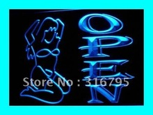 i221 Sexy Ladies Night Club OPEN LED Light Sign On/Off Switch 7 Colors